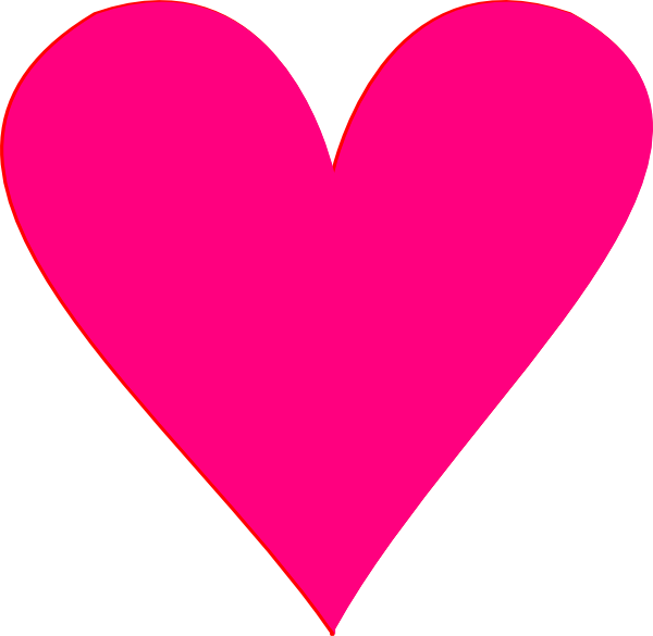 Heart Pink Clip Art at Clker.com - vector clip art online ...