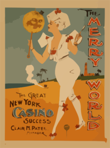 The Merry World The Great New York Casino Success. Clip Art