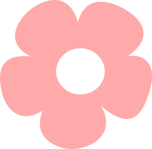 simple pink flower clip art at vector clip art