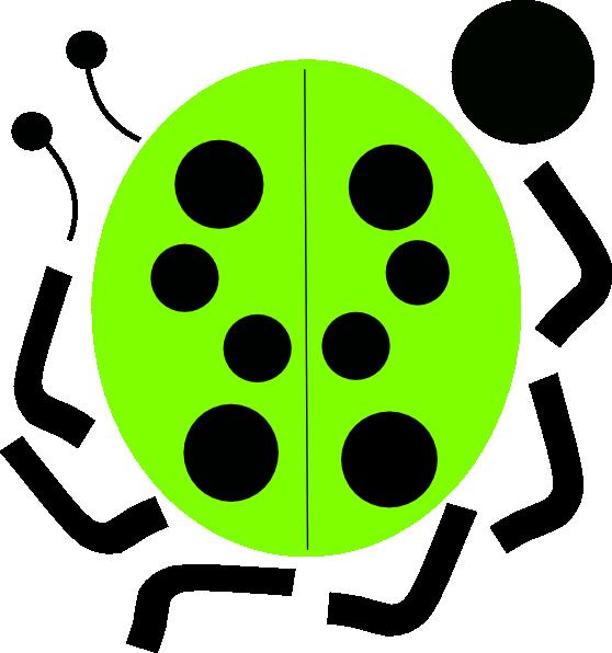 green ladybug clipart - photo #6