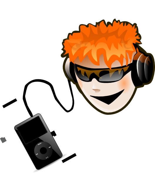 Listen To Music Clip Art at Clker.com - vector clip art online ...