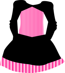 Pink Striped Pirate Dress Clip Art