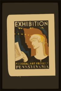 Exhibition Wpa Federal Art Project Pennsylvania / Milhous. Clip Art