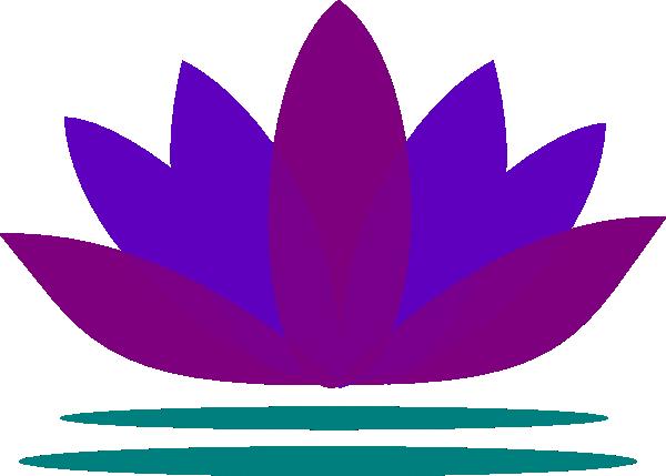 free blue lotus flower clip art - photo #26