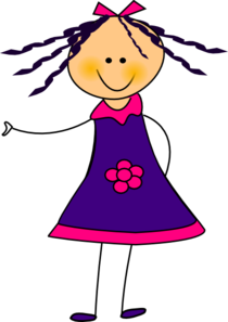 Purple Dress Girl Clip Art