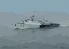 The Lithuanian Frigate Lns Aukstaitis (f 12) Steams Through The Baltic Sea During The Annual Maritime Exercise Baltic Operations 2003 (baltops) Clip Art