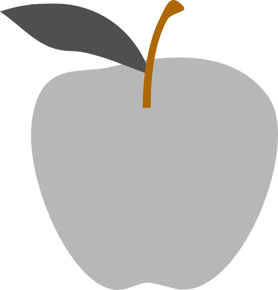 Apple Gray,File Vectorized Apple gray is a vector version of this file ...
