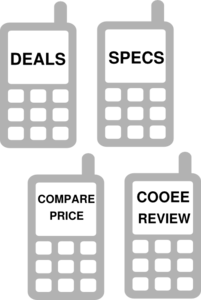 Icon Mobile Phone 4 Grey Clip Art