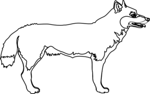 Wolf Outline Clip Art
