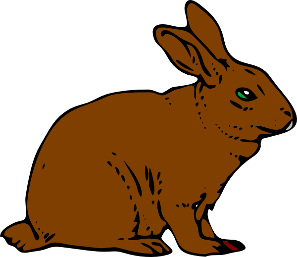 Brown rabbit clip art at clker vector clip art online download this image as voltagebd Images