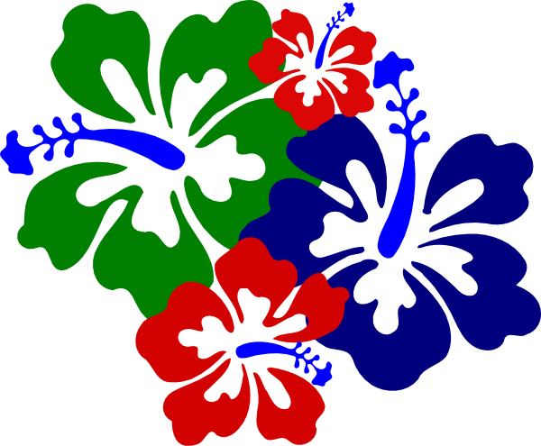 Hibiscus flowers 4 clip art at vector clip art online royalty free public domain - Hibiscus images download ...