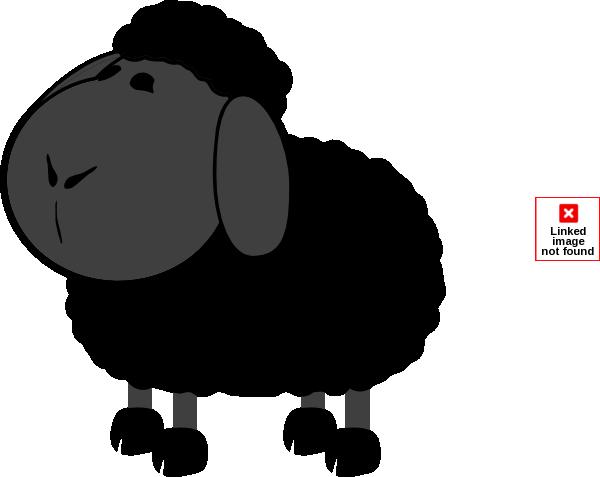 dkg black sheep clip art at clker com vector clip art online rh clker com black sheep clip art hard black sheep clipart black and white