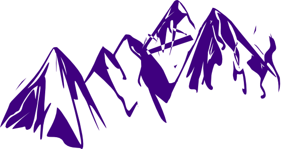Purple Mountains Clip Art at Clker.com - vector clip art online ...