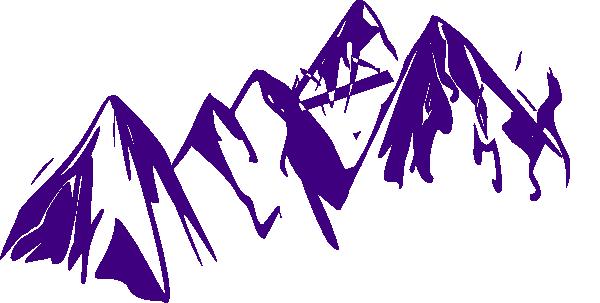 Purple Mountains Clip Art at Clker.com - vector clip art online ...