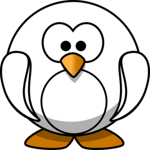 Penguin Outline Clip Art