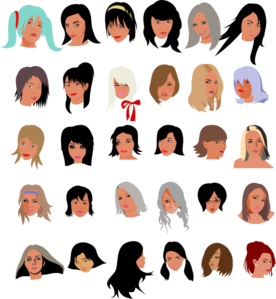 Female Faces Clip Art