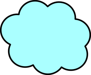 Small Light Blue Cloud Clip Art