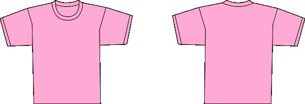 Pink tshirt clip art at vector clip art online for Pink t shirt template