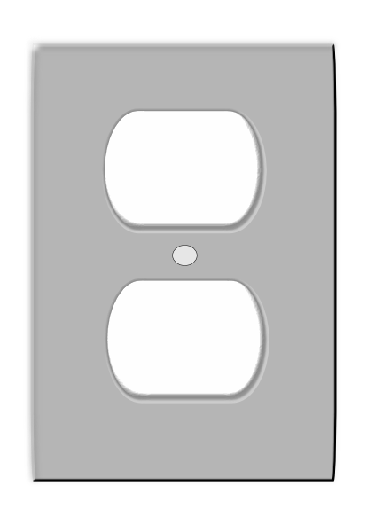 electrical receptacle cover clip art at clker com