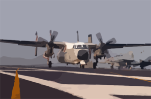 C-2 Greyhound  Makes An Arrested Landing On The Flight Deck Aboard Uss Harry S. Truman (cvn 75). Clip Art