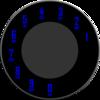 Rotary Blue Dial Clip Art