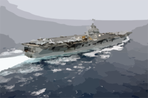 Aerial View Of The Nuclear Powered Aircraft Carrier Uss Harry S. Truman (cvn 75) Clip Art
