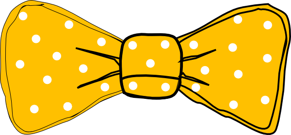 Yellow Bow Png Bow Tie Yellow Clipart