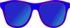 Blue Sunglasses Front Clip Art