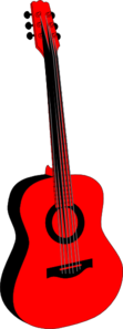 Red And Black Guitar Clip Art