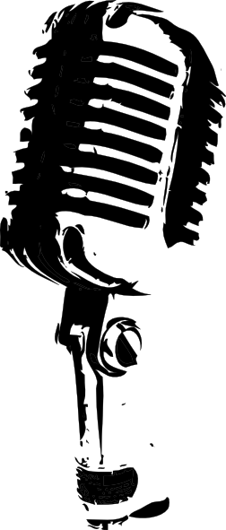 Black And White Microphone Clip Art at Clker.com - vector ...