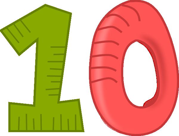 number 10 clip art at clker com vector clip art online royalty