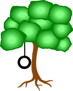 Tree With Tire Swing Clip Art
