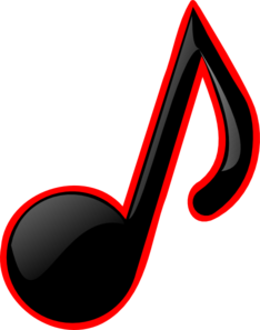Black/red Music Note Clip Art
