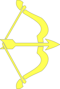 Yellow Bow & Arrow Clip Art
