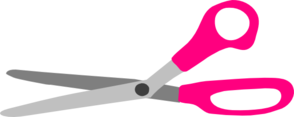 Pink Scissors Clip Art
