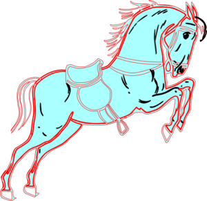 White Red Horse Clip Art