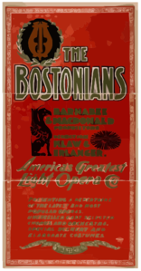 The Bostonians America S Greatest Light Opera Co. Clip Art