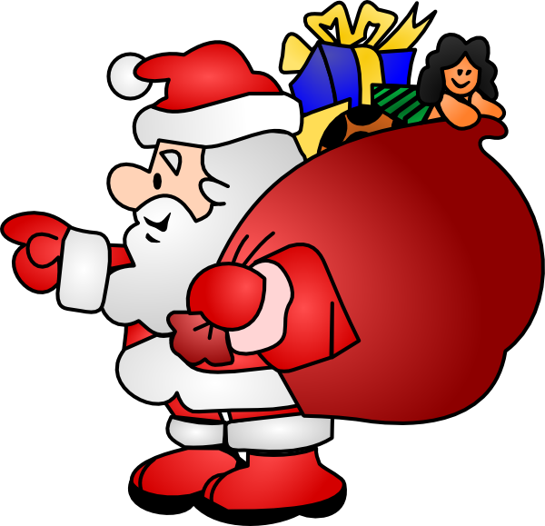 Santa claus clip art at vector clip art online for Weihnachtskugeln transparent