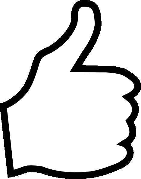 White Thumbs Up Clip Art At Clker Com Vector Clip Art