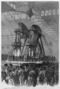 [president Grant And Don Pedro Starting The Corliss Engine At The Centennial, Philadelphia, 1876] Clip Art