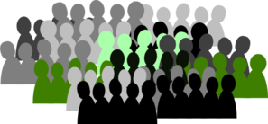 Green And Grey Crowd Clip Art