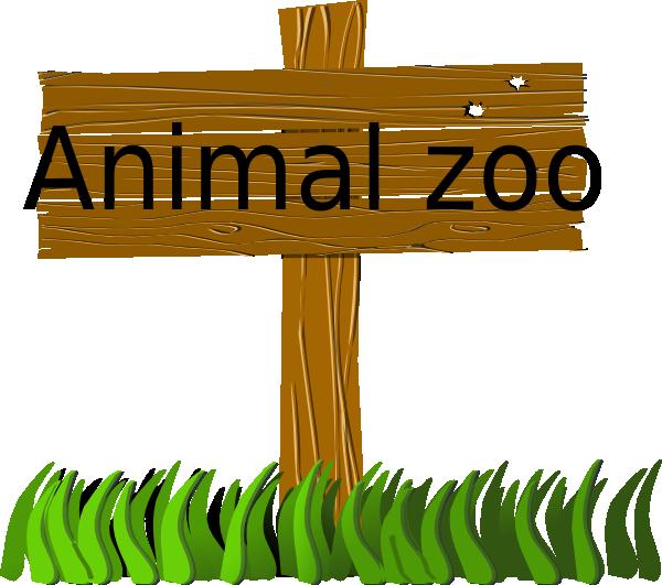 Animal Zoo Sign Clip A...
