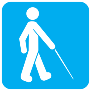 Blue Visually Impaired Clip Art