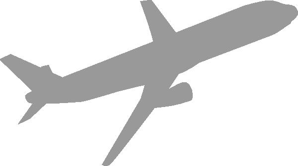 Airplane Gray Clip Art At Clker Com Vector Clip Art
