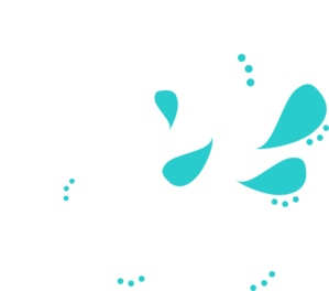 White And Teal Paisley Swirl Clip Art