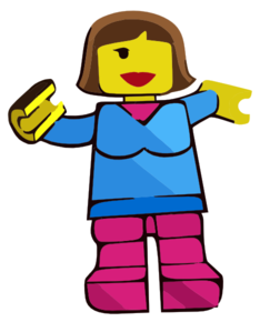 Brick Toy Box Minifigures Drawings Girl Clip Art