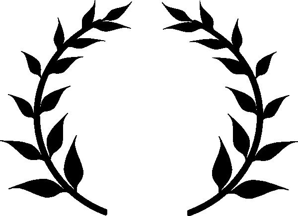 Black Laurel Wreath Clip Art at Clker.com - vector clip ...