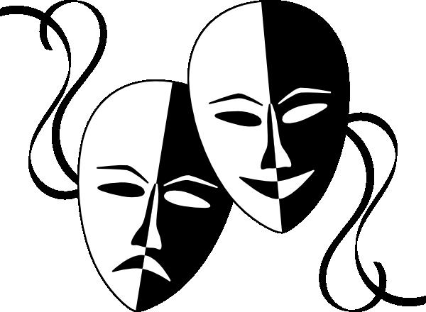 theatre masks clip art at clker com vector clip art drama masks clipart free drama masks clip art transparent background