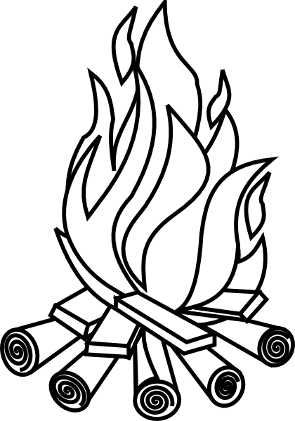 Displaying (18) Gallery Images For Bonfire Clipart Black And White...