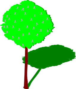 Tree With Shadow Clip Art